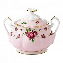 Royal Albert - Royal Doulton New Country pink vintage covered sugar