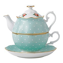 Royal Albert - Royal Doulton polka rose green tea for one