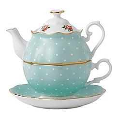 Royal Albert - Royal Doulton polka rose green tea for one