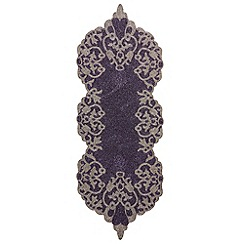 Debenhams - Purple beaded table runner