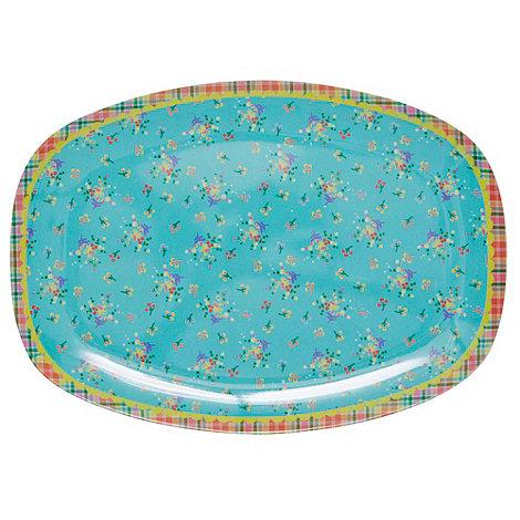 Rice - Aqua mini flower rectangular tray