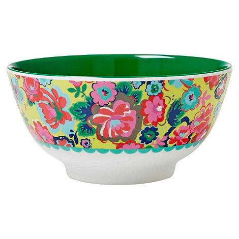 Rice - English rose print bowl