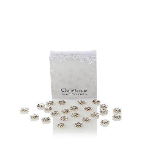 Salt & Pepper - Metal snowflake table confetti