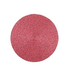 Debenhams - Pink beaded placemat