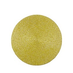 Debenhams - Lime beaded placemat