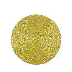 Debenhams - Lime beaded placemat