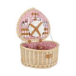 Debenhams - Wicker two person heart picnic basket