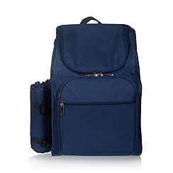 Debenhams - Blue picnic backpack