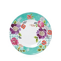 At home with Ashley Thomas - Set of four melamine floral dinner plates