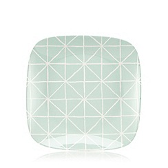 Debenhams - Pale green square print side plate