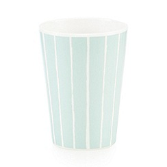 Debenhams - Pale green vertical striped beaker