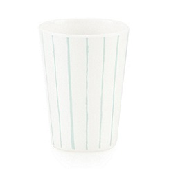 Debenhams - White vertical striped beaker