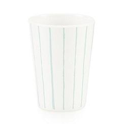 Debenhams - White vertical striped beaker