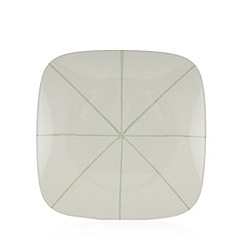 Debenhams - Set of four white striped dinner plates
