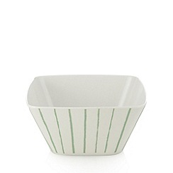 Debenhams - Set of four white striped cereal bowls