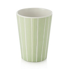Debenhams - Set of four aqua striped beakers
