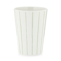 Debenhams - Set of four white striped plastic beakers