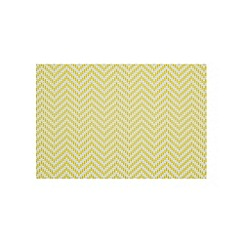 Debenhams - Set of two designer lime chevron weave placemats