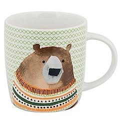 Sabichi - Sabichi Bear & Fairisle 4pk Mug Set