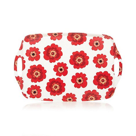 Creative Tops - Plastic red poppy printed tray