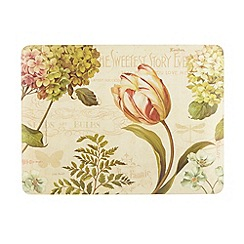Creative Tops - Pack of six beige floral printed table mats
