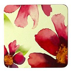 Inspire - Red watercolour floral coasters