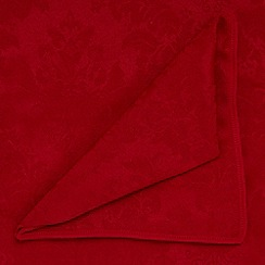 Debenhams - Red large damask table cloth and set of 6 napkins