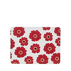 Creative Tops - Set of six 'Bold Poppy' placemats