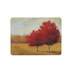 Inspire - Set of six 'Scarlet Meadow' placemats