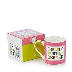 Ben de Lisi Home - Designer fine china pink mug