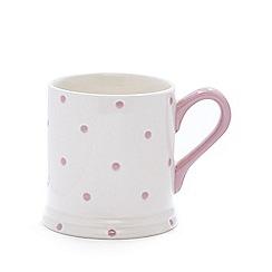 Debenhams - Pink stoneware spotted mug