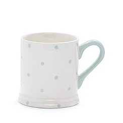 Debenhams - Pale green stoneware spotted mug