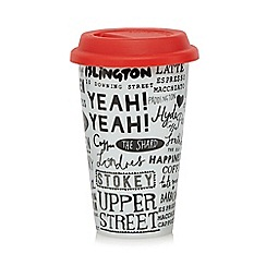 Ben de Lisi Home - Designer porcelain London town travel mug