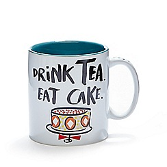 Ben de Lisi Home - Stoneware 'Drink Tea' large mug
