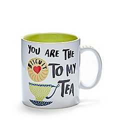 Ben de Lisi Home - Stoneware 'Biscuit to my tea' large mug