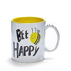 Ben de Lisi Home - Stoneware 'Bee Happy' large mug