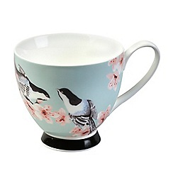 Lifestyle - Zen garden pink bone china footed mug