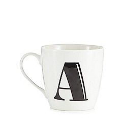Debenhams - White 'A' alphabet mug