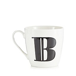 Debenhams - White 'B' alphabet mug
