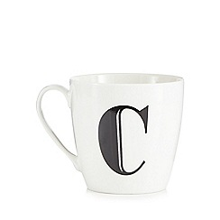 Debenhams - White 'C' alphabet mug