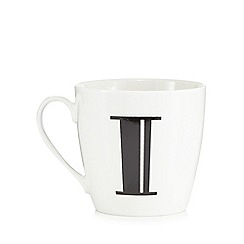 Debenhams - White 'I' alphabet mug