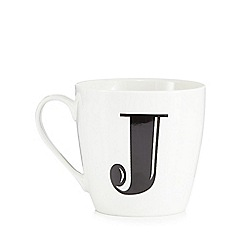 Debenhams - White 'J' alphabet mug