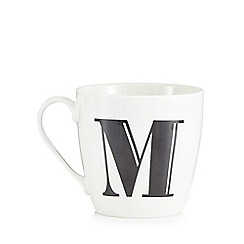 Debenhams - White 'M' alphabet mug