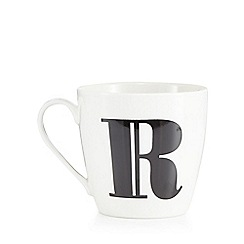 Debenhams - White 'R' alphabet mug