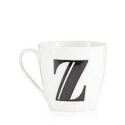 Debenhams - White 'V' alphabet mug