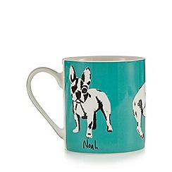Ben de Lisi Home - Green dog print mug
