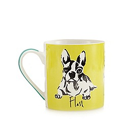 Ben de Lisi Home - Yellow dog print mug