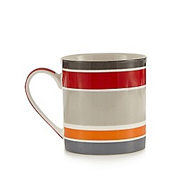 Ben de Lisi Home - Red striped mug