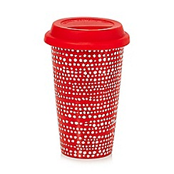 Home Collection Basics - Red spotted travel mug