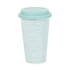 Home Collection Basics - Blue spotted travel mug